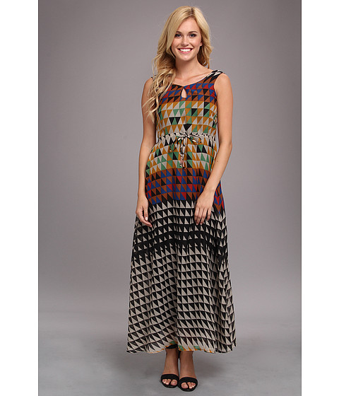 Yumi - Tetris Maxi Dress (Multi) Women's Dress