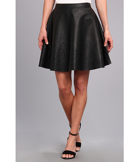 Yumi - Cut-Out Skater Skirt (Black) Women's Skirt