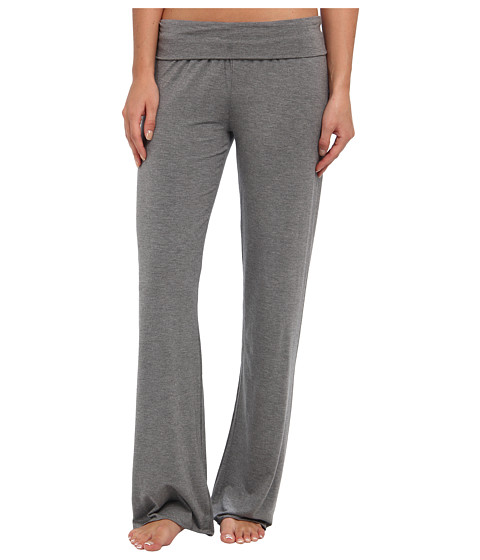 Splendid - Fold-Over Pant (Charcoal Heather) Women