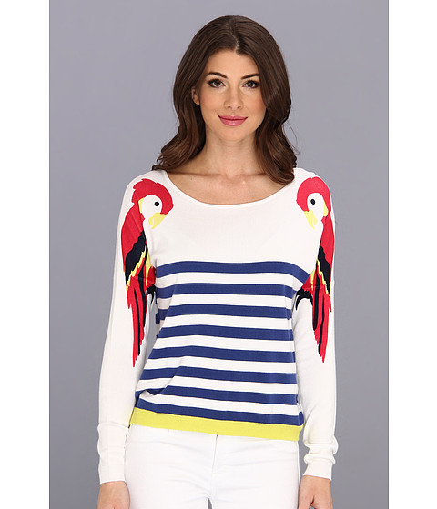 Yumi - Paradise Parrot Sweater (Off White) Women's Sweater
