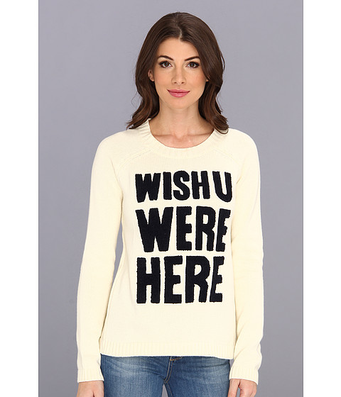 Yumi - Nautical Slogan Sweater (Cream) Women's Sweater