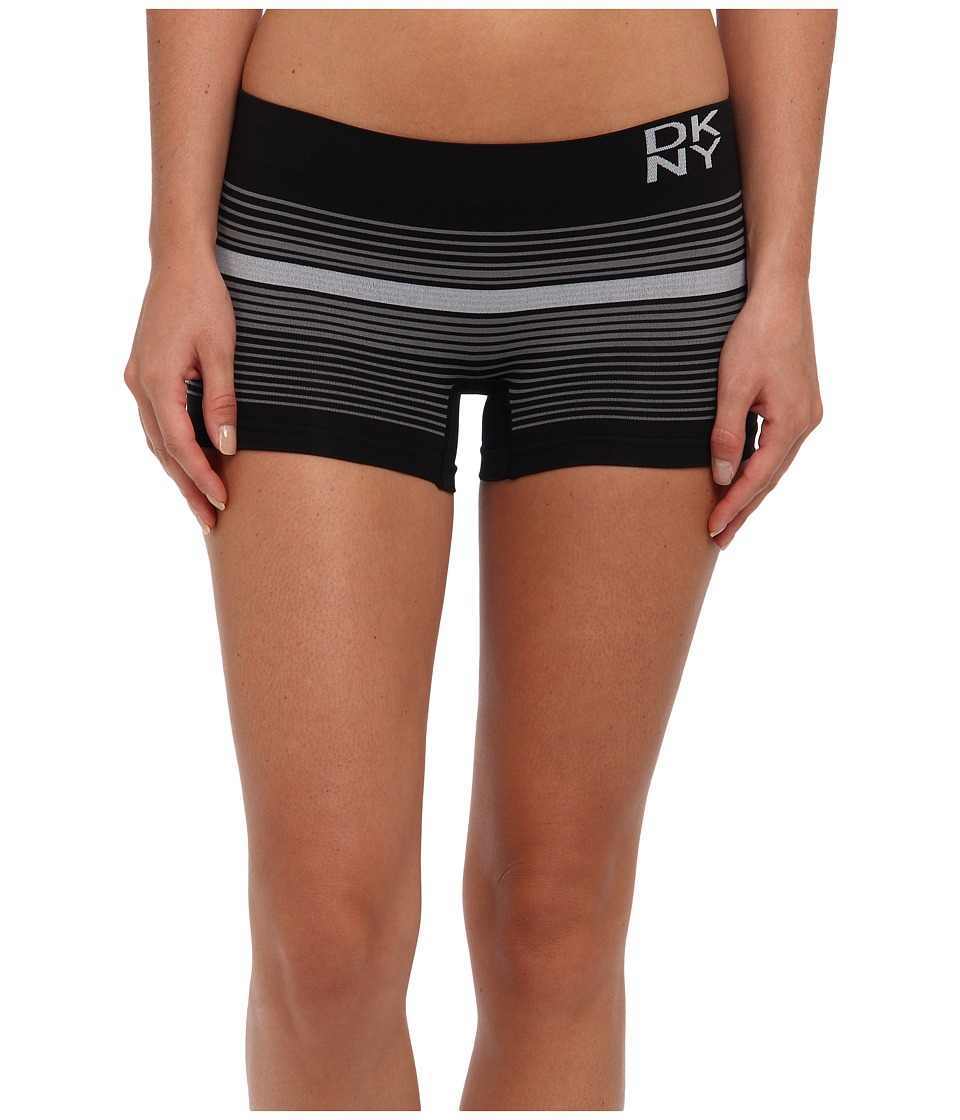 DKNY Intimates - Energy Seamless Boyshort (Stripe Love Black/White) Women's Underwear