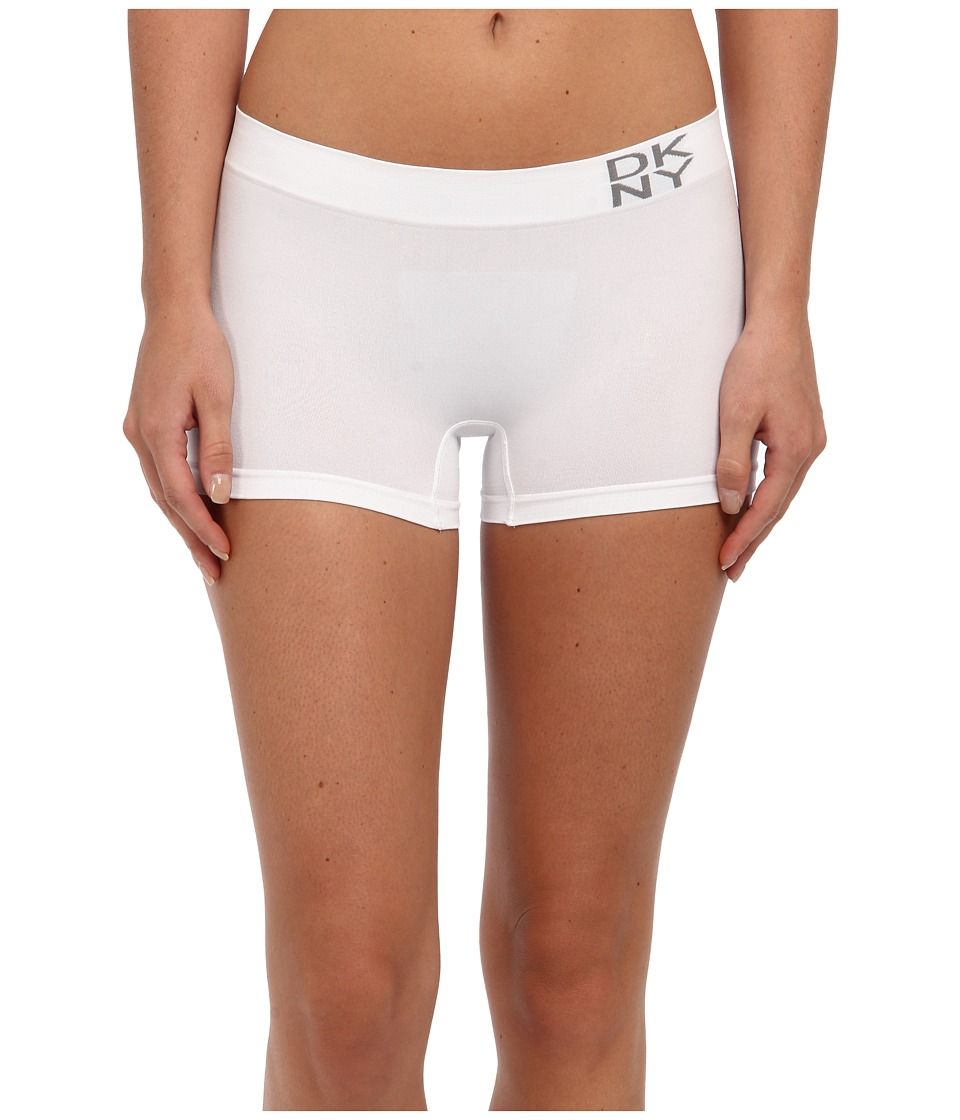 DKNY Intimates - Energy Seamless Boyshort (White) Women's Underwear