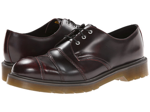 Dr. Martens - Stax 3-Eye Bandage Shoe (Cherry Red Arcadia) Men