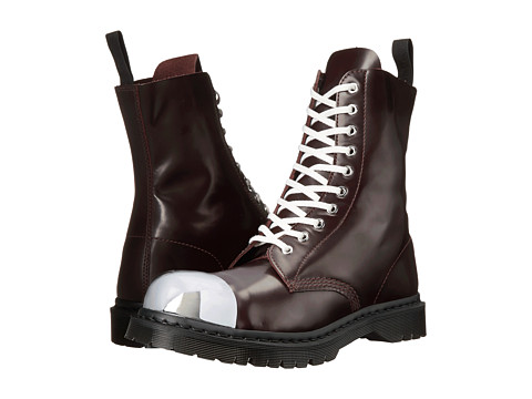 Dr. Martens - Grasp External Fashion Steel Toe Cap Boot (Oxblood Polished Smooth) Lace-up Boots