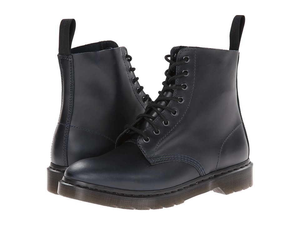 Dr. Martens - Pascal 8-Eye Boot (Navy Brando) Men's Lace-up Boots
