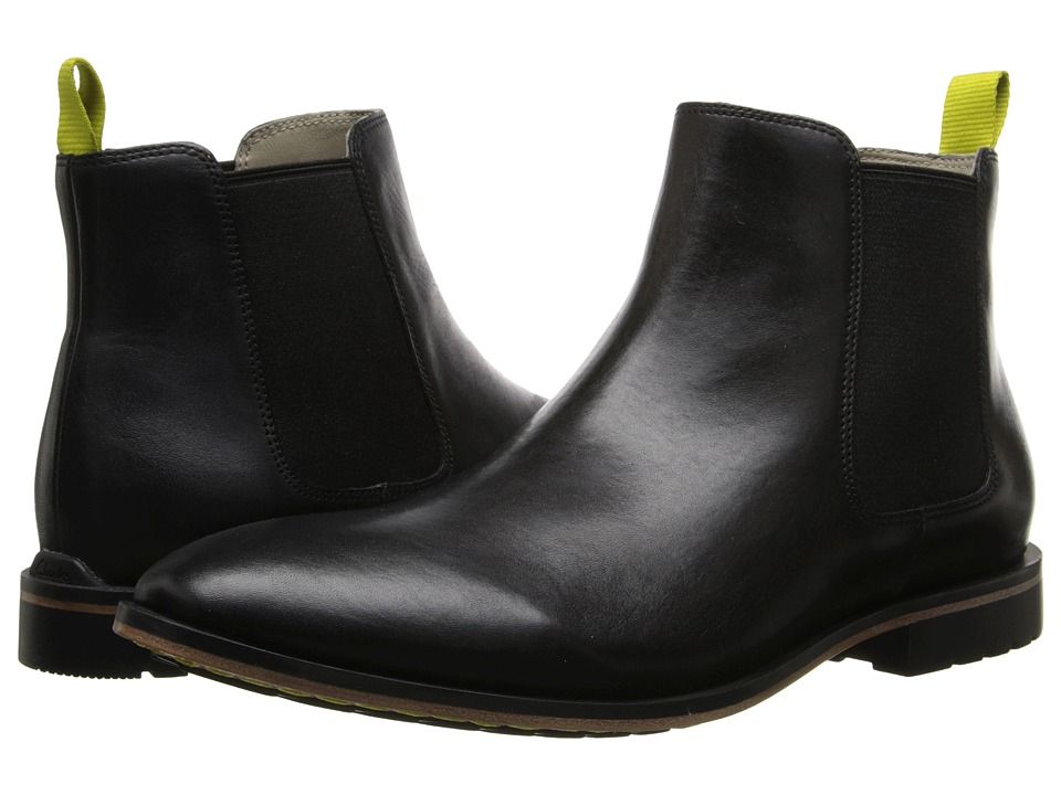 Clarks - Gatley Top (Black Leather) Men
