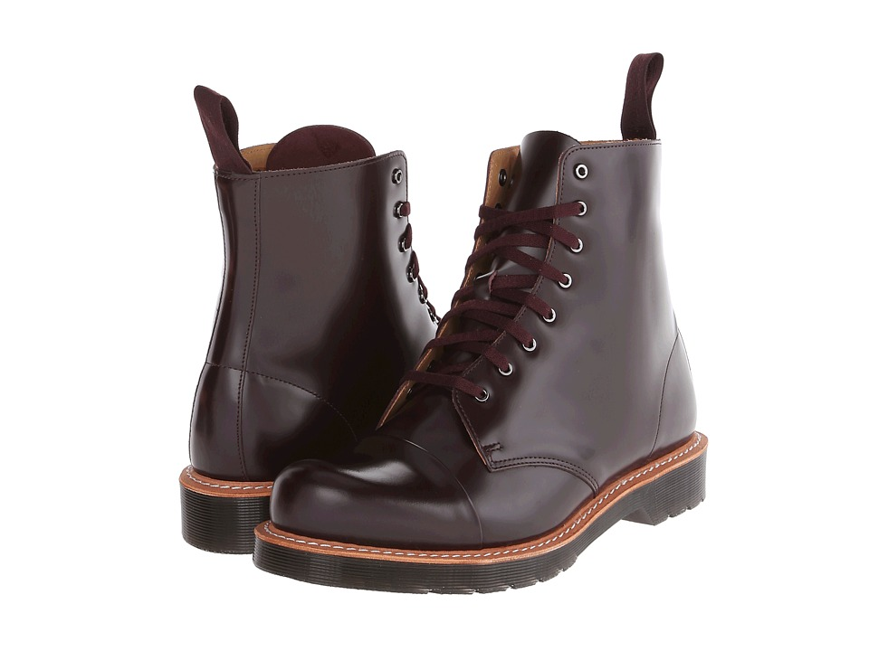 Dr. Martens - Charlton 8-Eye Toe Cap Boot (Oxblood Polished Smooth) Men