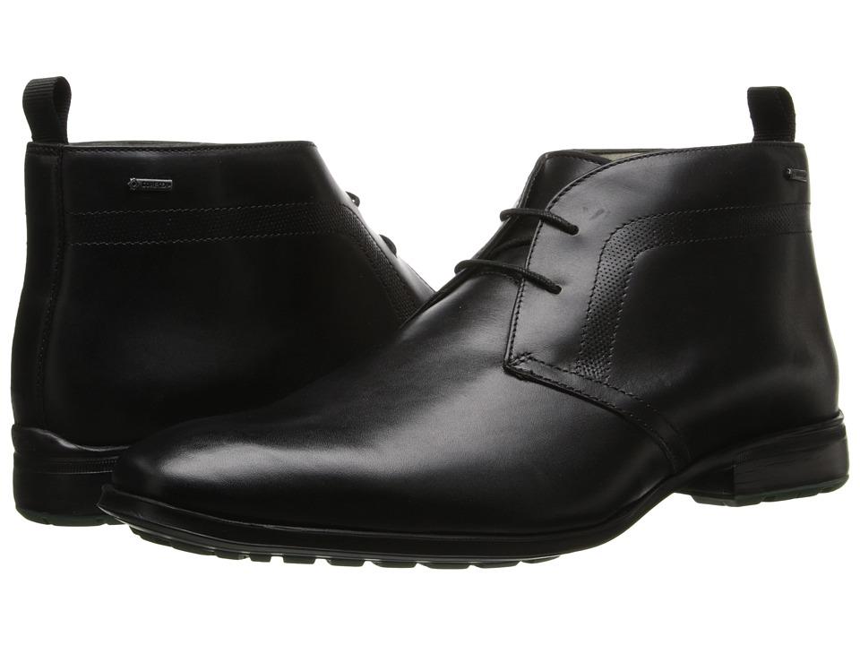 Clarks - Gleeson Hi GTX (Black Leather) Men's Plain Toe Shoes