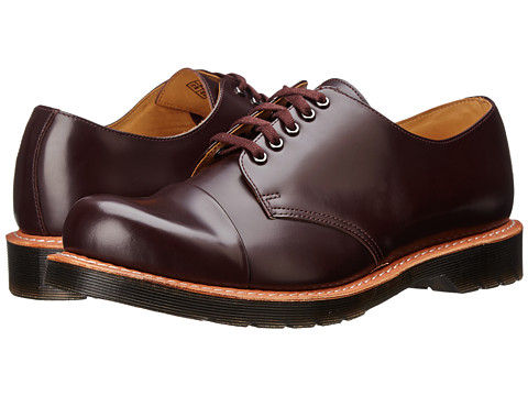 Dr. Martens - Leigh 5-Eye Toe Cap Shoe (Oxblood Polished Smooth) Men