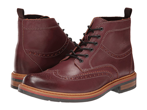 Clarks - Darby Rise (Burgundy Leather) Men's Dress Lace-up Boots