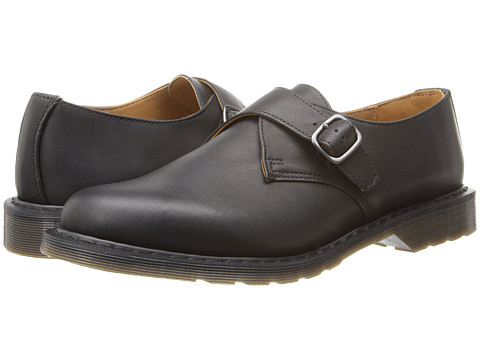Dr. Martens - Padraic Monk Shoe (Black Greasy) Men's Monkstrap Shoes