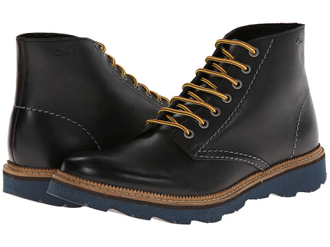 Clarks - Frelan Rise (Black Leather) Men's Lace-up Boots