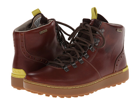 Clarks - Nanu Hike GTX (Chestnut Leather) Men's Lace-up Boots