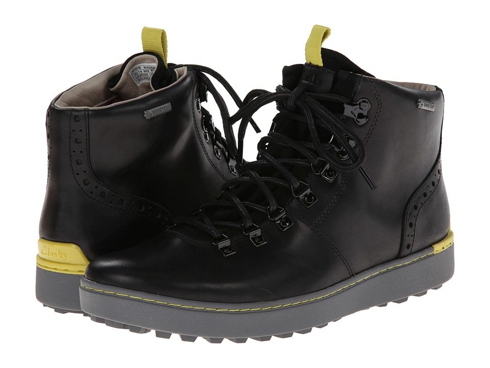 Clarks - Nanu Hike GTX (Black Leather) Men's Lace-up Boots