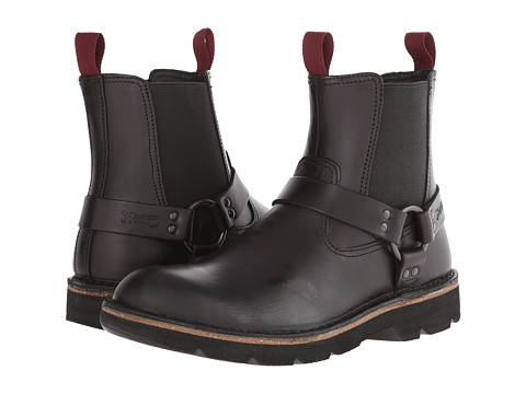 Clarks - Mellor Top (Black Leather) Men's Pull-on Boots