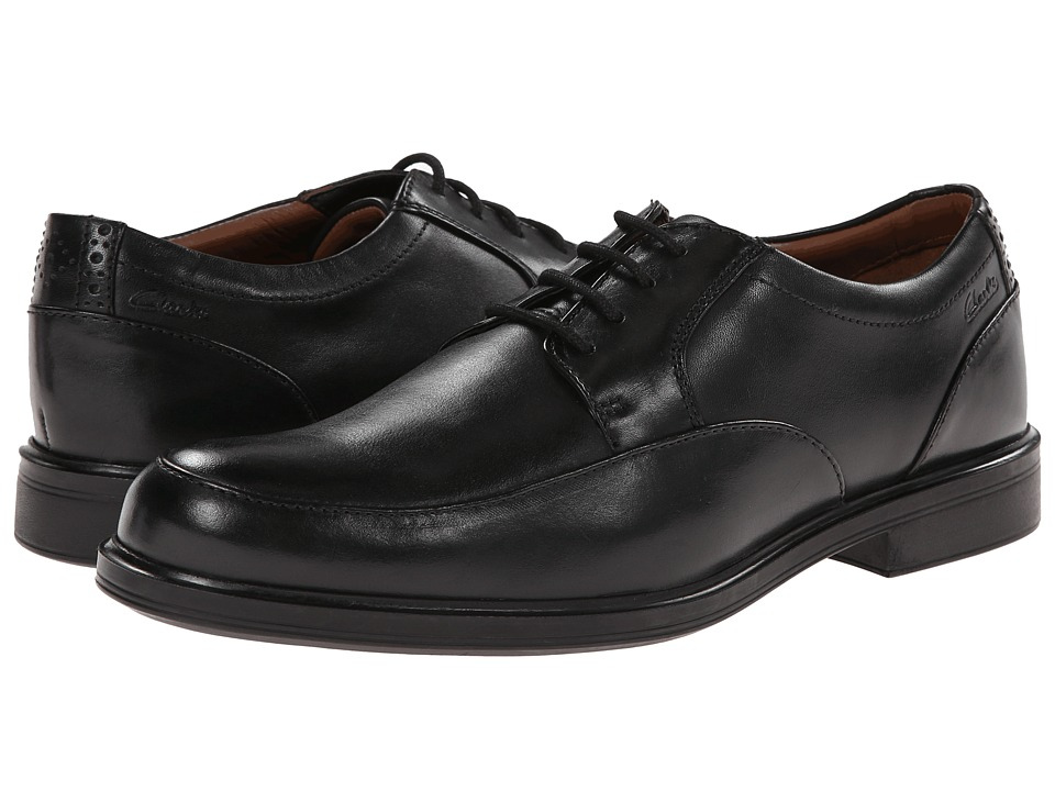 Clarks - Gabson Apron (Black Leather) Men