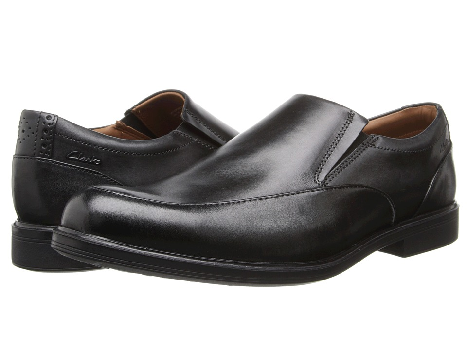 Clarks - Gabson Step (Black Leather) Men's Slip-on Dress Shoes