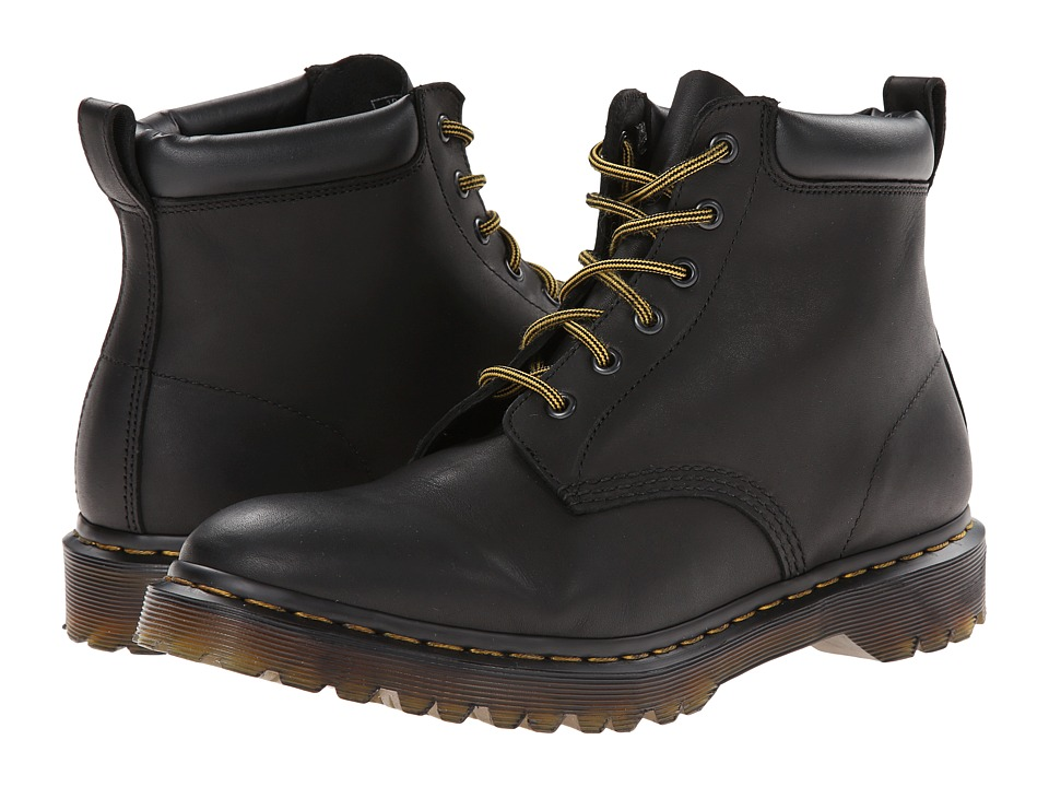 Dr. Martens - 939 6-Eye Hiker Boot (Black Aged Greasy) Lace-up Boots