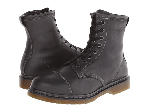 Dr. Martens - Mace Capper Boot (Black Polished Wyoming) Men's Lace-up Boots