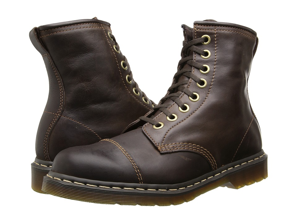 Dr. Martens - Mace Capper Boot (Dark Brown Polished Wyoming) Men's Lace-up Boots