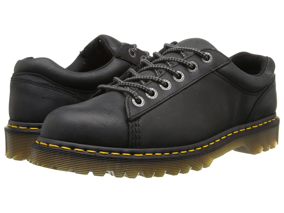 Dr. Martens - Bold 6-Tie Shoe (Black Burnished Wyoming) Men