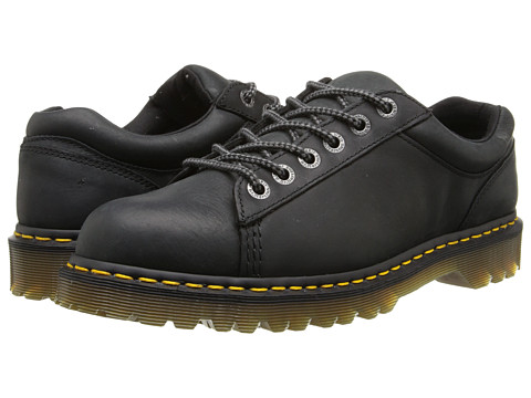 Dr. Martens - Bold 6-Tie Shoe (Black Burnished Wyoming) Men's Lace up casual Shoes