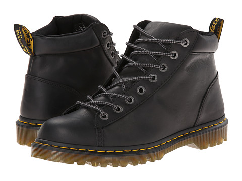 Dr. Martens - Arne 8-Tie Boot (Black Burnished Wyoming) Men's Lace-up Boots