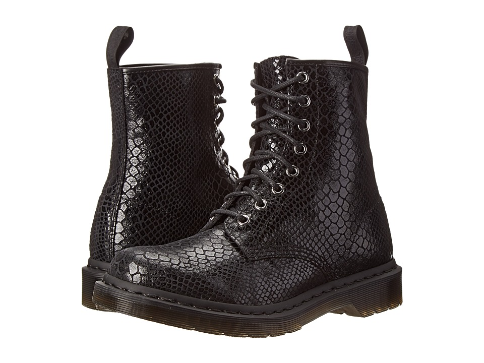 Dr. Martens - 1460 8-Eye Boot (Black Hi Shine Snake) Women's Lace-up Boots