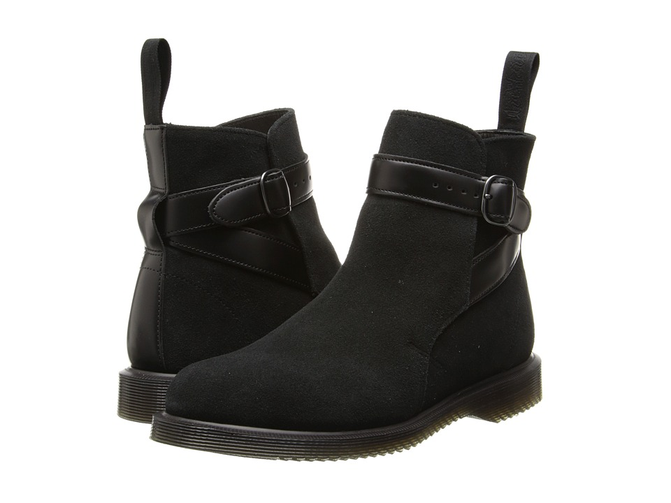 Dr. Martens - Teresa Jodphur Boot (Black Hi Suede WP/Smooth) Women's Pull-on Boots