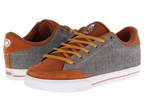 Circa - Lopez 50 (Leather Brown/Mini Herringbone) Men's Skate Shoes