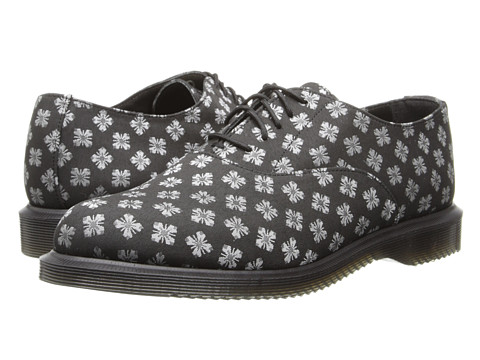 Dr. Martens - Briar 5-Eye Oxford (Black 60's Geo Brocade) Women's Lace up casual Shoes