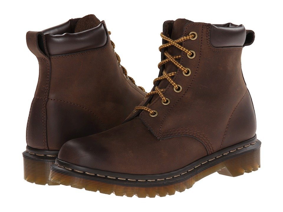 Dr. Martens - 939 6-Eye Boot (Dark Brown Burnished Wyoming) Women