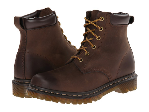 Dr. Martens - 939 6-Eye Boot (Dark Brown Burnished Wyoming) Women's Lace-up Boots