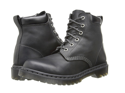 Dr. Martens - 939 6-Eye Boot (Black Burnished Wyoming) Women's Lace-up Boots