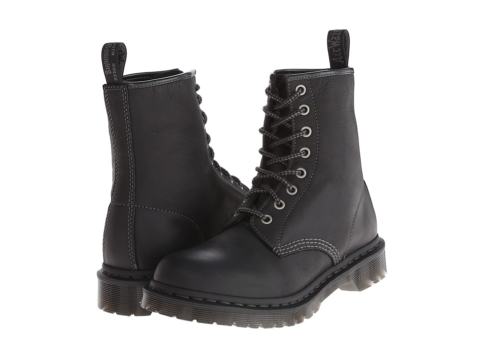 Dr. Martens - 1460 W 8-Eye Boot (Black Burnished Wyoming) Women's Lace-up Boots