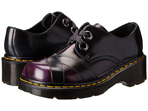 Dr. Martens - Sylwia 2-Eye Bandage Toe Shoe (Purple/Navy/Green Arcadia) Women's Lace up casual Shoes