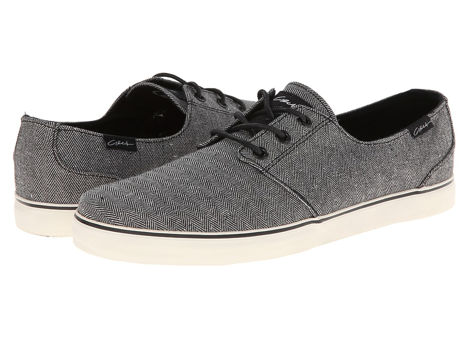 Circa - Crip (Black Mini Herringbone) Men's Skate Shoes