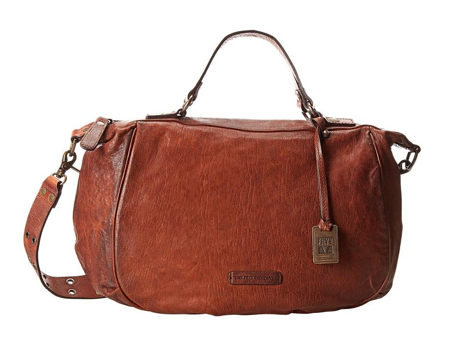 Frye - Becca Satchel (Whiskey Antique Pull Up) Satchel Handbags