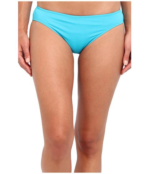 LAUREN by Ralph Lauren - Laguna Solids Hipster w/ Logo Plate (Ocean Turquoise) Women's Swimwear
