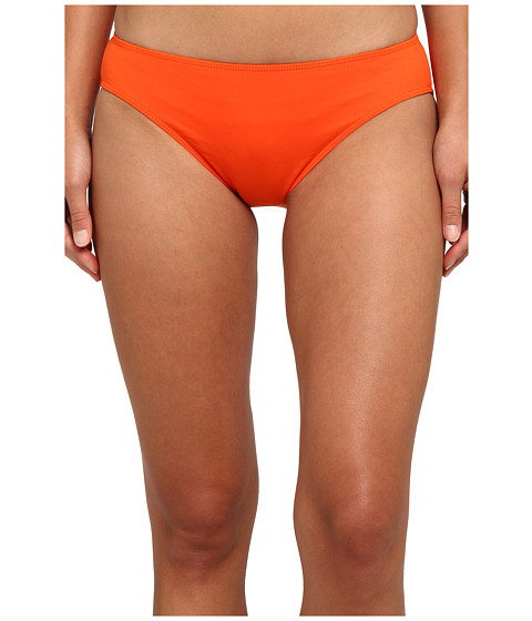 LAUREN by Ralph Lauren - Laguna Solids Hipster w/ Logo Plate (Calypso Orange) Women's Swimwear