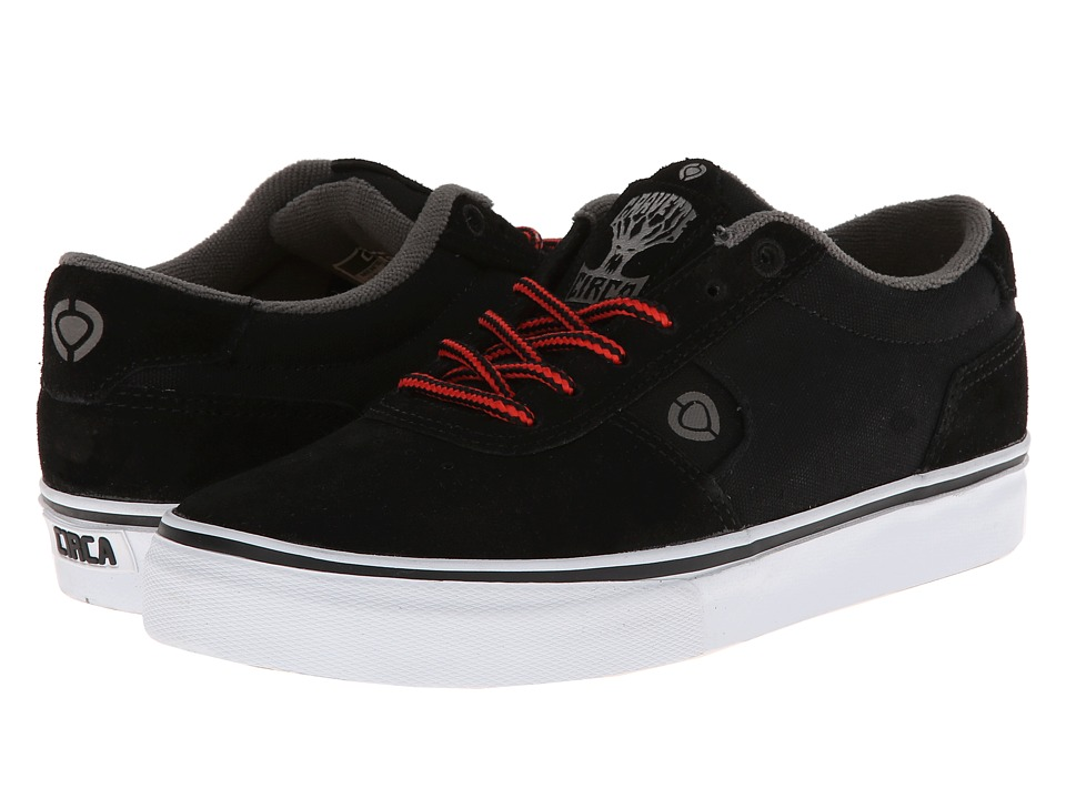 Circa - Lamb (Black/Dark Gull/True Red) Men's Skate Shoes