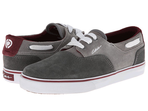 Circa - Valeo (Gray/Ox Blood) Men's Skate Shoes