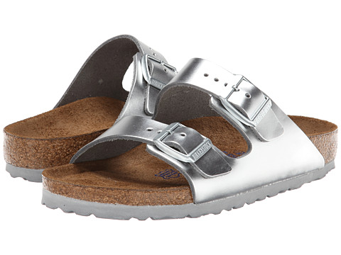 c66aea432 ... UPC 886454407004 product image for Birkenstock Arizona Soft Footbed (Silver  Metallic Leather) Women s Sandals
