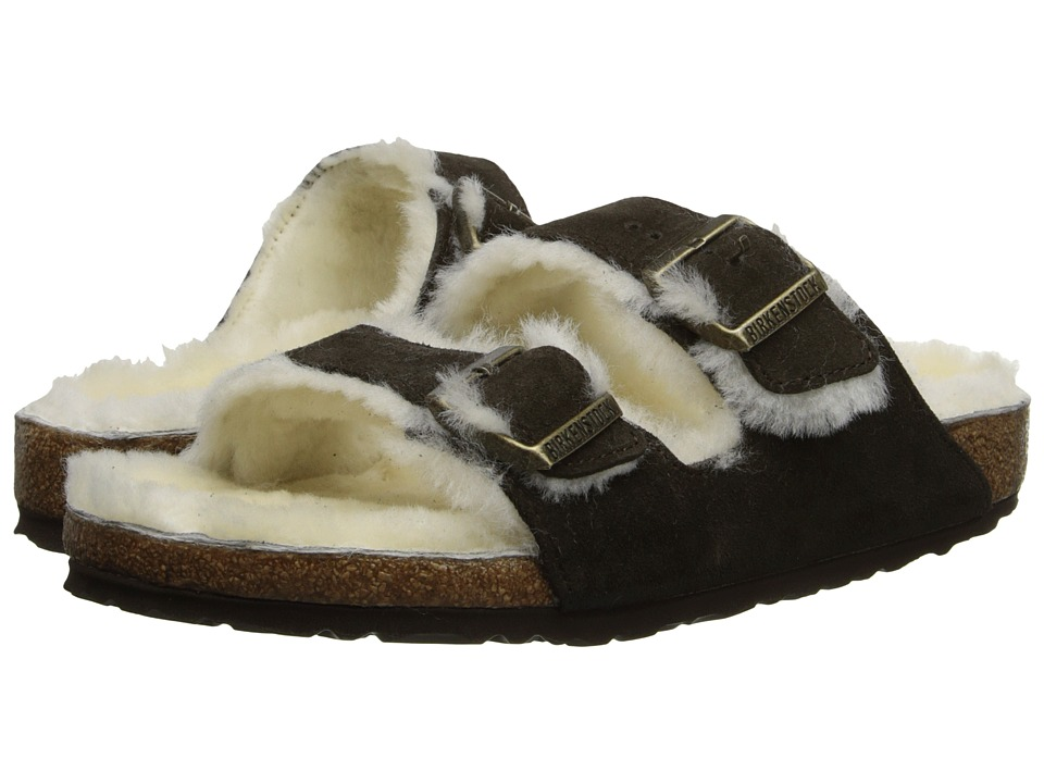 Birkenstock - Arizona Shearling (Mocha Suede/Shearling) Women's Shoes