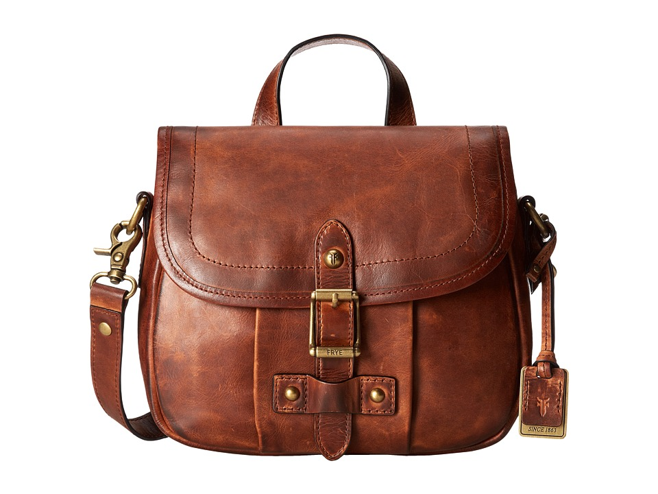 Frye - Parker Crossbody (Cognac Antique Pull Up) Cross Body Handbags