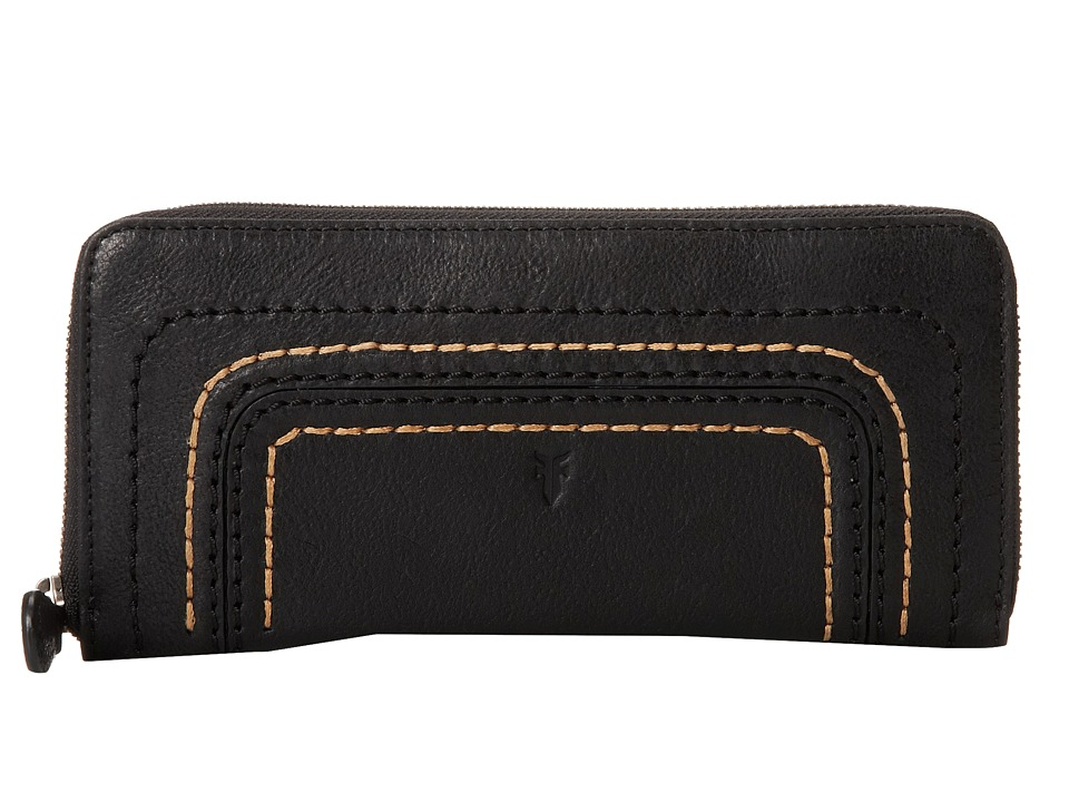 Frye - Anna Wallet (Black Hammered Full Grain) Wallet Handbags