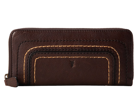 Frye - Anna Wallet (Dark Brown Hammered Full Grain) Wallet Handbags