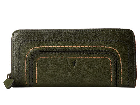 Frye - Anna Wallet (Olive Hammered Full Grain) Wallet Handbags