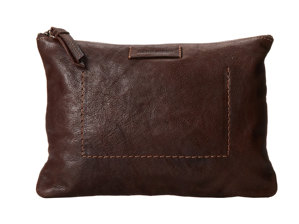 Frye - Artisan Pouch (Dark Brown Hammer Full Grain) Handbags